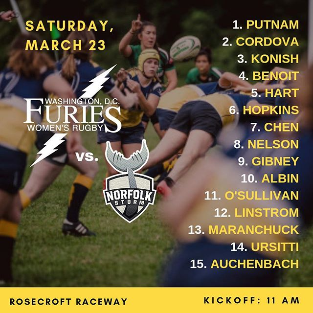 Starting VX for D2's match vs @757womensrugby | Get the full game day scoop at dcfuries.com/news (link in bio)