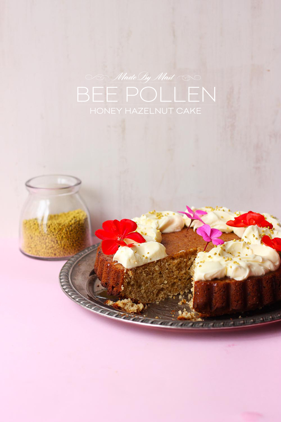 Dine X Design | Honey Bee Pollen Hazenut Cake
