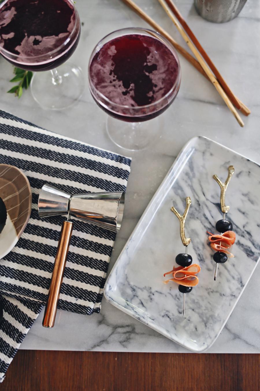 Blueberry Shrub Cocktail Garish | Dine X Design