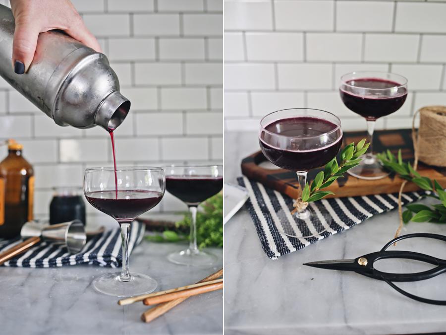 Blueberry Shrub Cocktail Recipe | Dine X Design