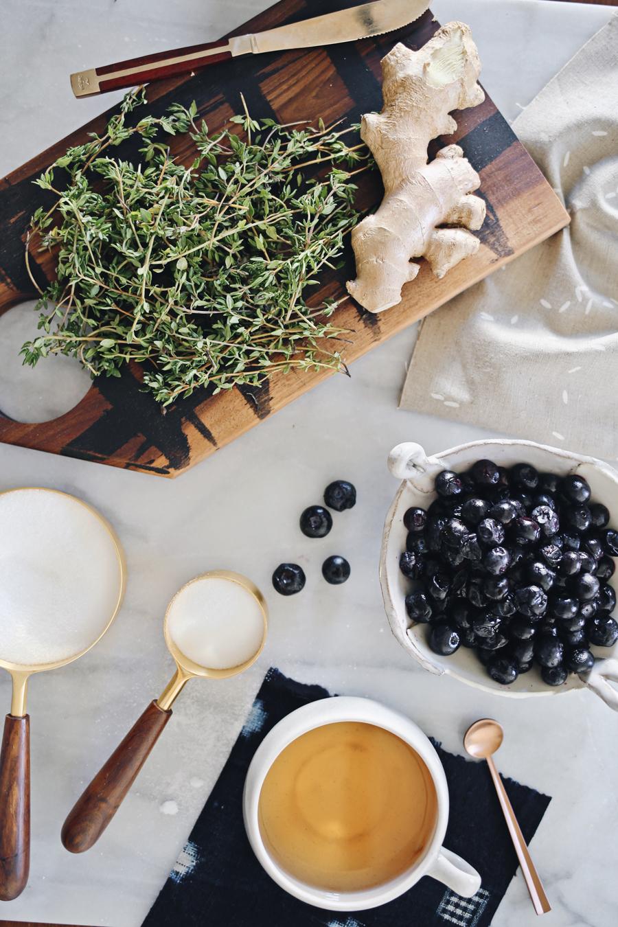 Blueberry Shrub Ingredients | Dine X Design