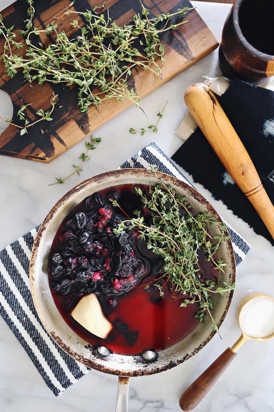 Dine X Design | Blueberry Shrub For The Holidays