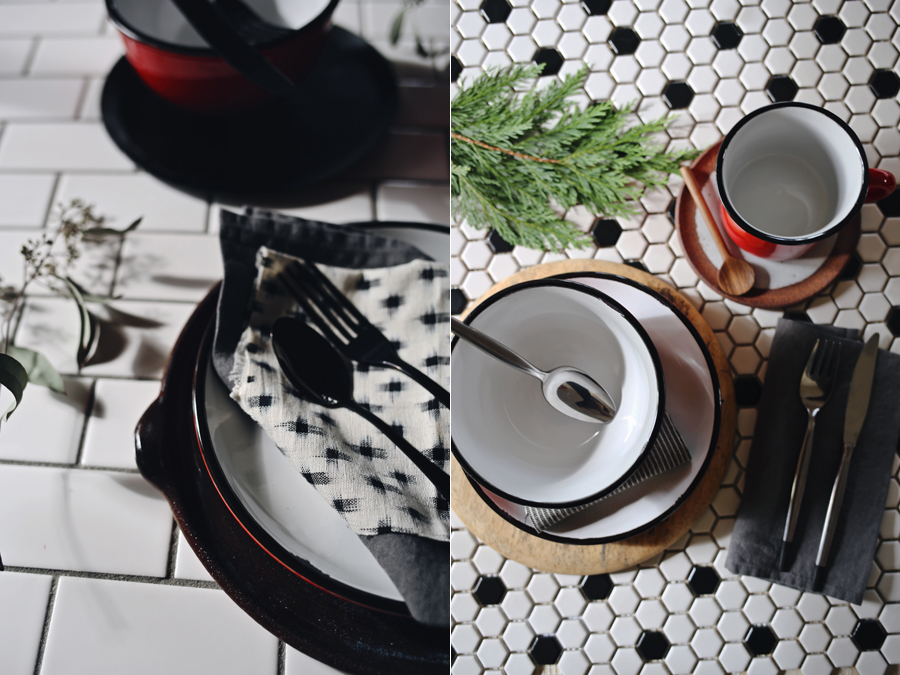 Holiday Canvas Home | Red Tinware | Dine X Design