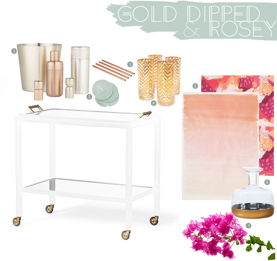 Rose Gold Inspired Bar Cart | DIne X Design