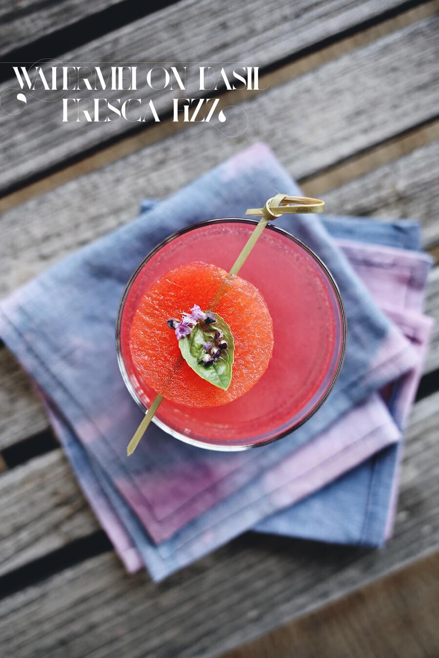 Watermelon Fresca Fizz Cocktail | Dine X Design