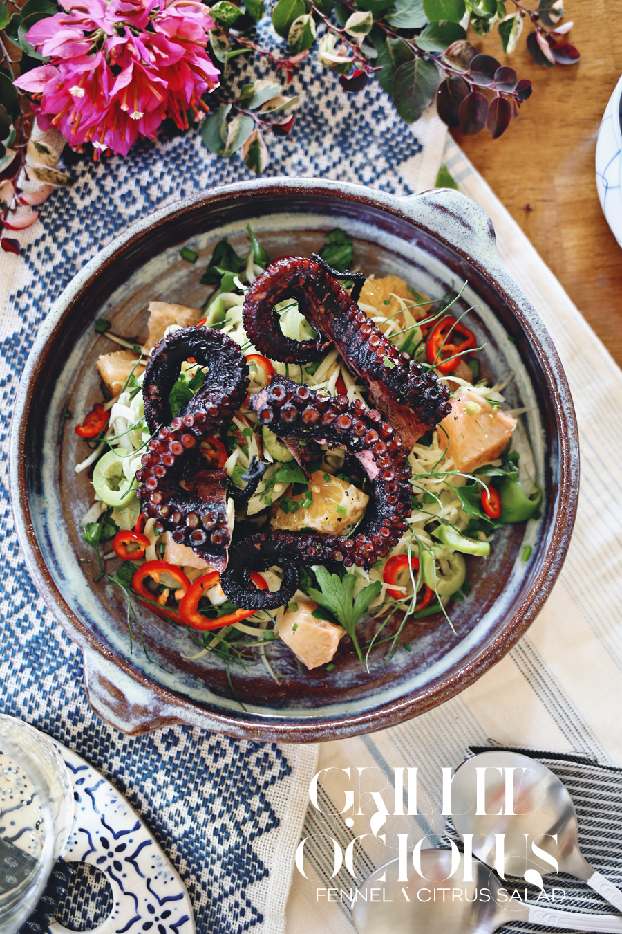 Grilled Octopus Fennel Citrus Salad Recipe | Dine X Design