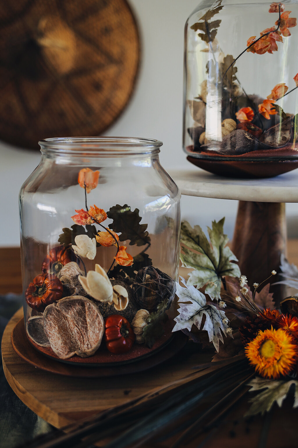 Diy Two Harvest Centerpieces For Autumn Dine X Design