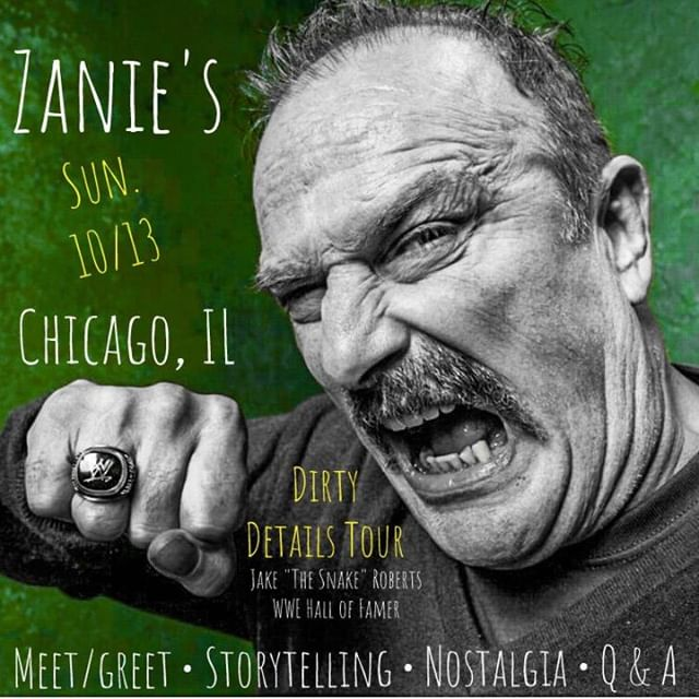10/13 @ZaniesChicago #dirtydetailstour taking you behind the scenes of some of the most iconic matches in WWE history!  TICKETS: https://zanieschicago.laughstub.com/event.cfm?cart&id=532868
