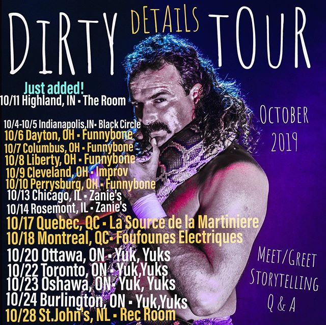 The countdown begins... #dirtydetailstour has the WiLd stories that will BLOW your mind.. #trustme