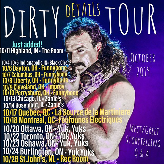 New stories, new snake swag, new shirts, SAME JAKE.. #dirtydetailstour is almost in your city! You've been warned....
