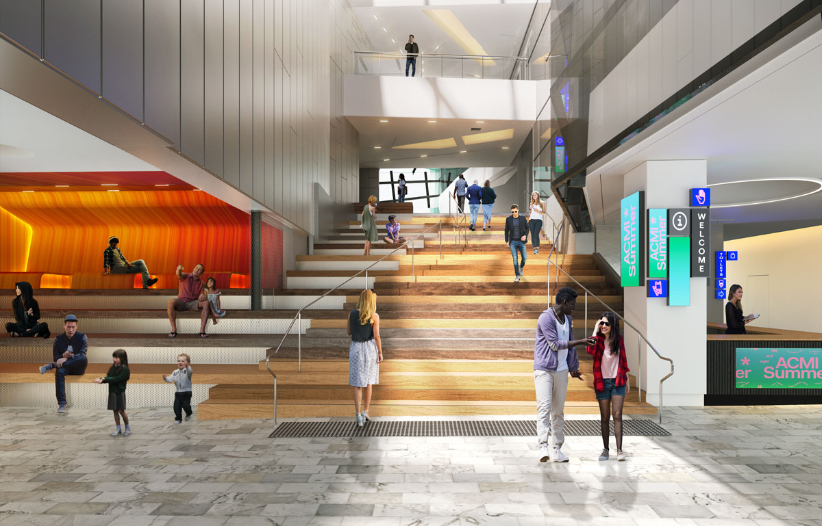 Artist's impression of the ground floor entrance to ACMI