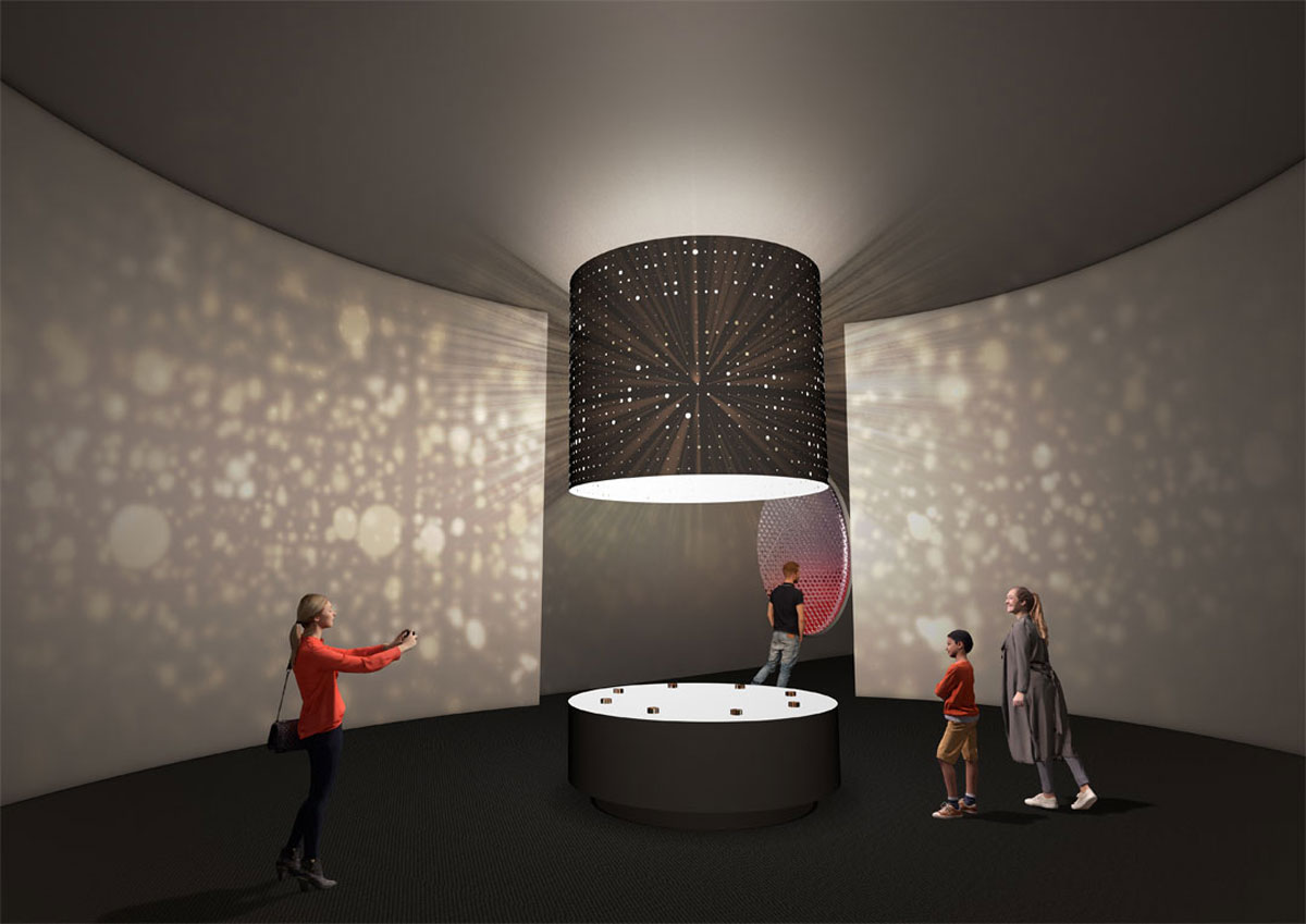 Artist's impression of the entrance to the new exhibition