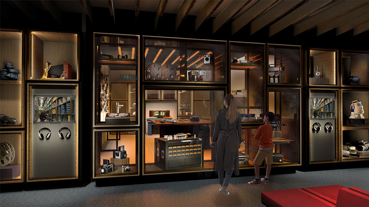 Artist's impression of the Media Preservation Lab located in the museum foyer