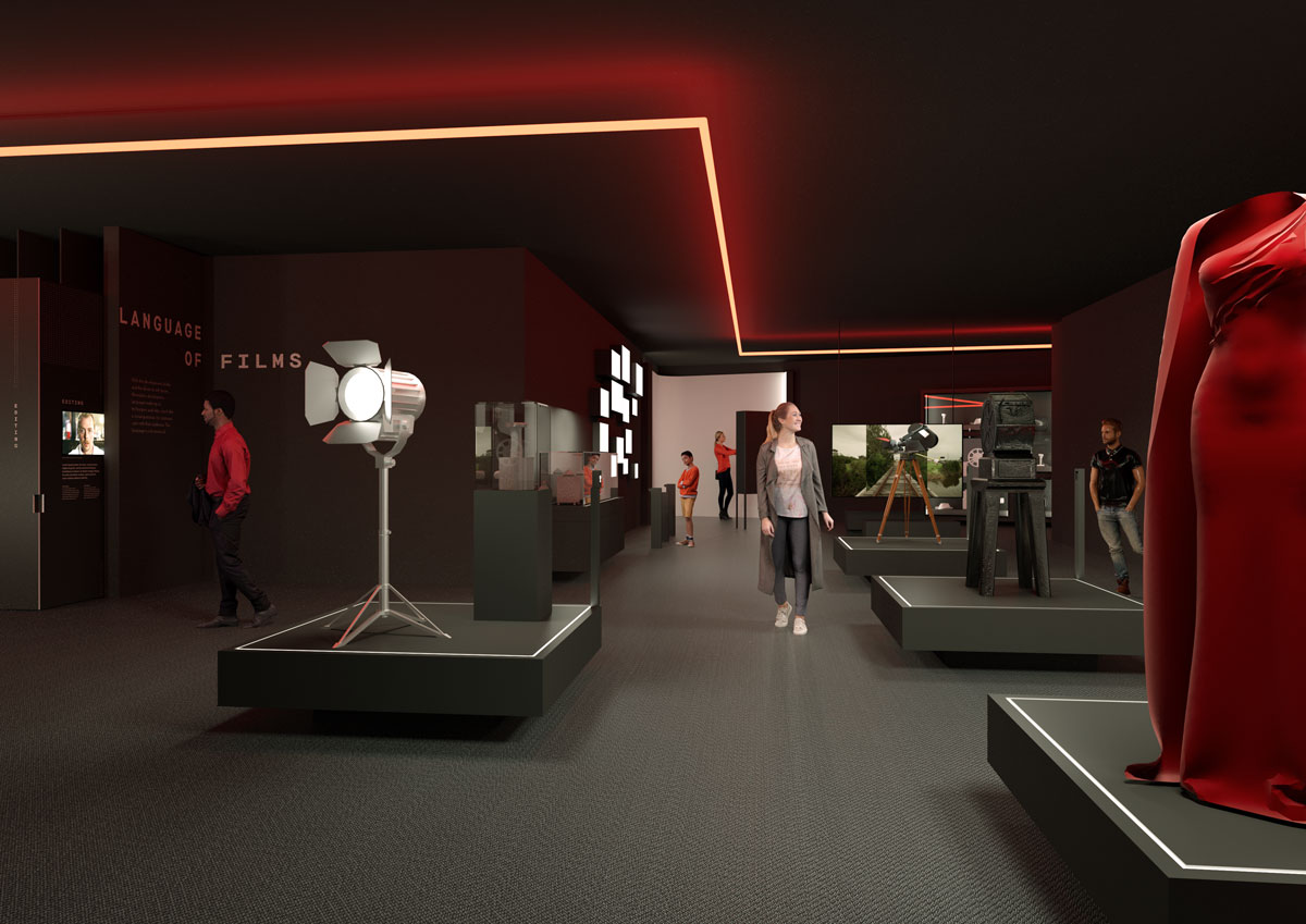 Artists impression of ACMI's new exhibition space