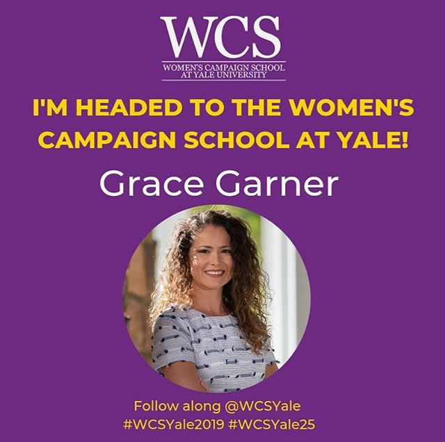 Today is the first day of the Women's Campaign School at Yale (@wcsyale). I am honored to be one of the women chosen to attend and learn more about how to run a successful campaign. It will be a week filled with challenges, triumphs, and fellowship with the other incredible women in attendance. Keep a look out here for more about my journey! #WCSYale #WCSYale2019 #WCSYale25 #WCSYaleInspiration