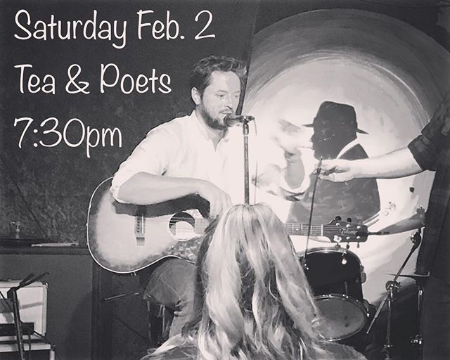 I'm opening for @mike_esses tomorrow @teaandpoets Show starts at 7:30.