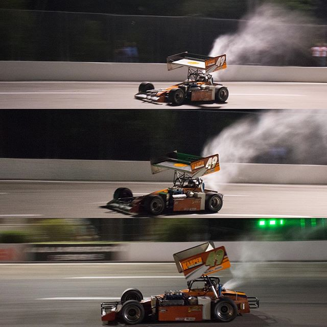 Wing Wednesday! So much negative pressure behind the wing that its literally sucking the excess fuel out!!! ISMA Super Modifieds trigger all your senses! Don't miss them and much more Friday August 9th.  @ismasupers #supermodified