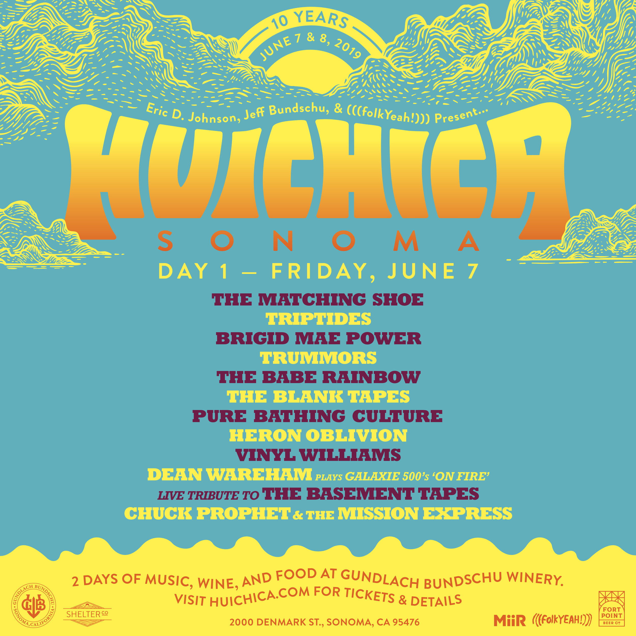 Our more intimate day at Huichica Sonoma hosts two stages of diverse music options, the Giraffe Stage and the Historic Redwood Barn Stage.