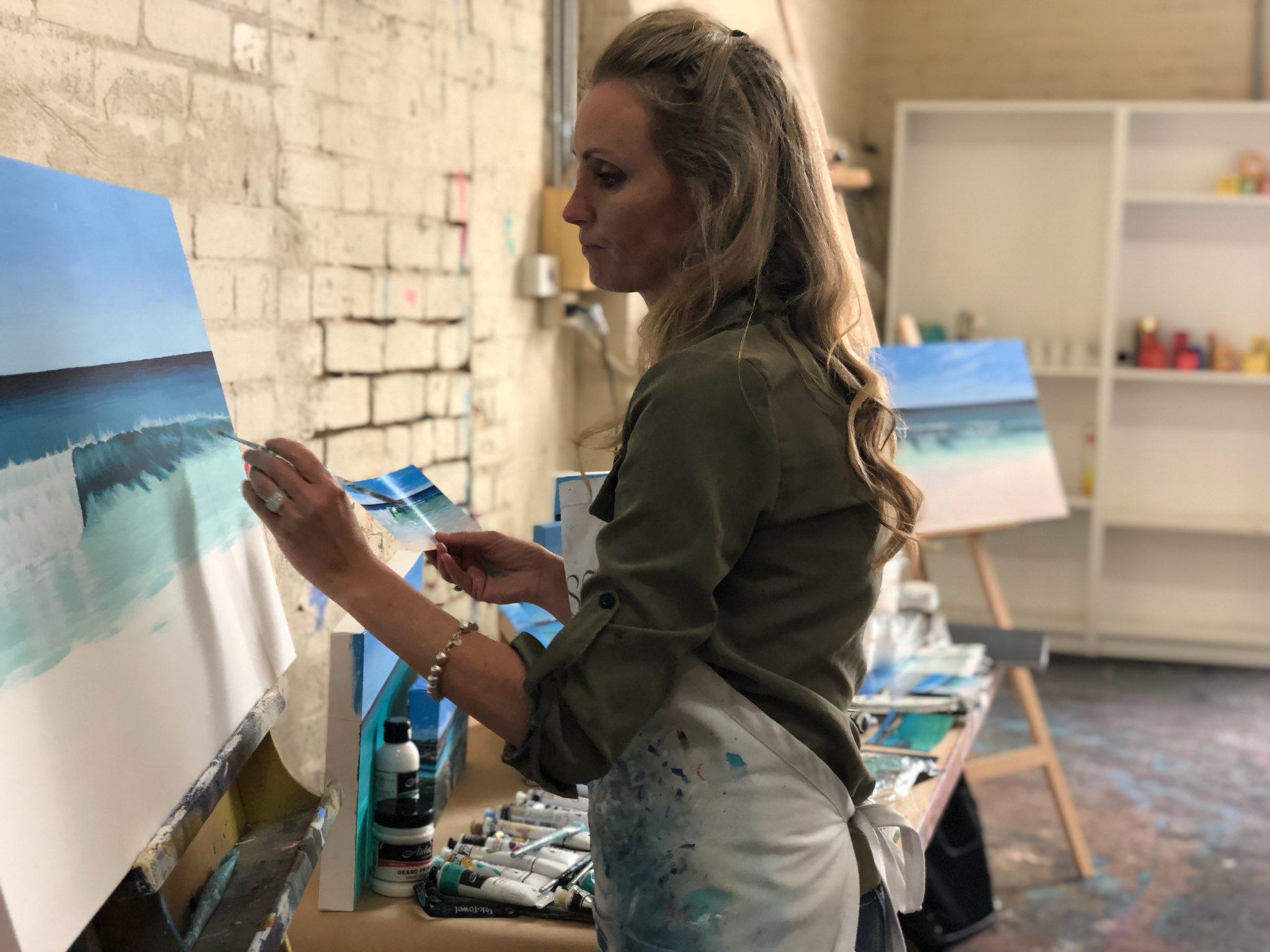 Genevieve Montgomerie Seascape Artist Perth WA