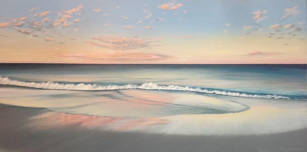 Mosman Beach 6.18am, 152 x 76cm - SOLD