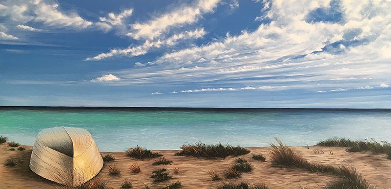 A Moody Geographe Bay,  152 x 76cm - SOLD