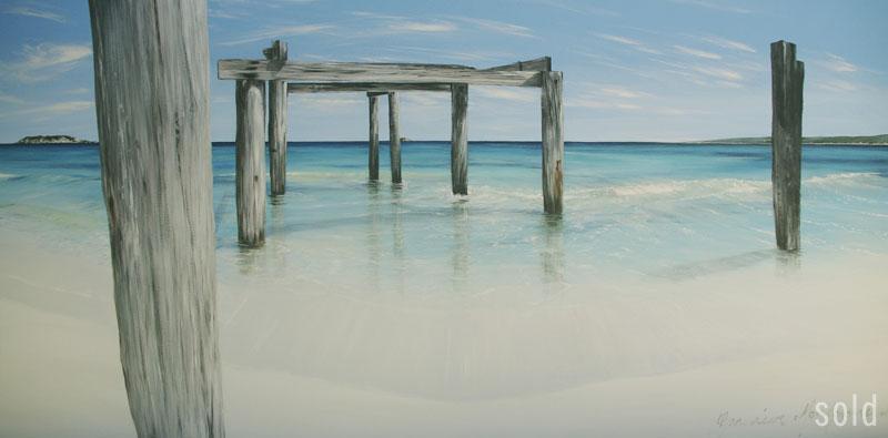Hamelin Bay, Acrylic on Canvas 2013, 152x76cm   SOLD