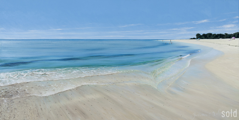Milky Turquoise, Geographe Bay 2012   213x106cm   SOLD