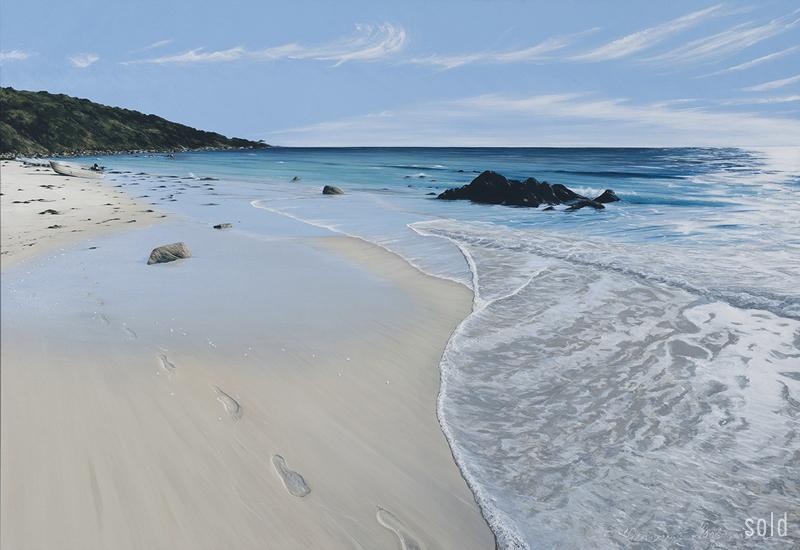 Easter Sunday Footprints - Bunker Bay  2012   190x130cm   SOLD