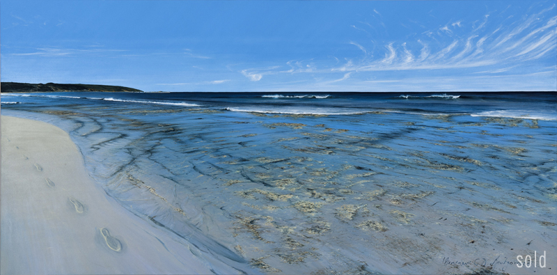 Quite a Morning - Yallingup Reef   2012   213x106cm   SOLD