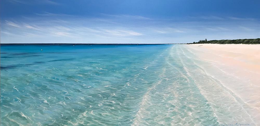 Yellow Buoys - Abbey Beach, 180x90cm - SOLD