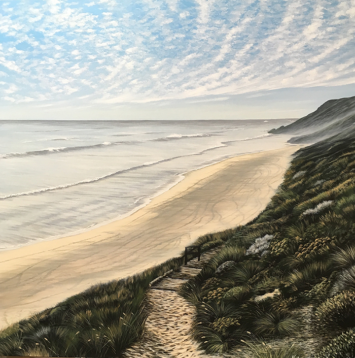 Pathway to a Silvery Yallingup, 121x121cm - SOLD