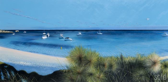 6.30am Aqua Offshore - 213cm x 83cm - Acrylic on canvas 2011 - SOLD