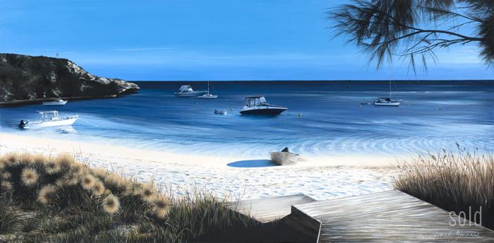 A Longreach Morning - 152cm x 76cm - Acrylic on canvas 2010 - SOLD