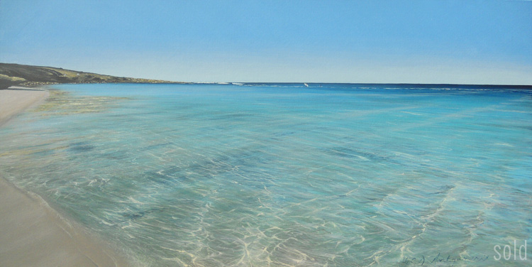 Crossing the Reef, Yallingup - 152cm x 76cm - Acrylic on canvas 2011 - SOLD