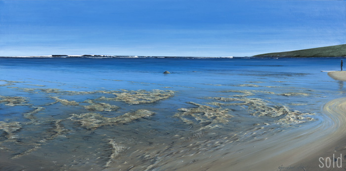 Heading out, Yallingup reef - 152cm x 76cm - Acrylic on canvas 2011 - SOLD