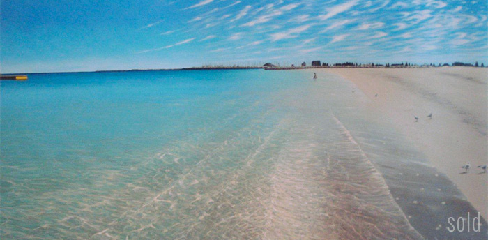 One Incredible Morning South Fremantle - 213cm x 113cm - Acrylic on canvas 2011 - SOLD