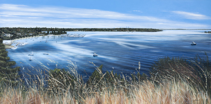 Our Lookout - 213cm x 106cm - Acrylic on canvas 2010 - SOLD