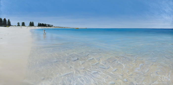 South Fremantle Looking South - 152cm x 76cm - Acrylic on canvas 2011 - SOLD