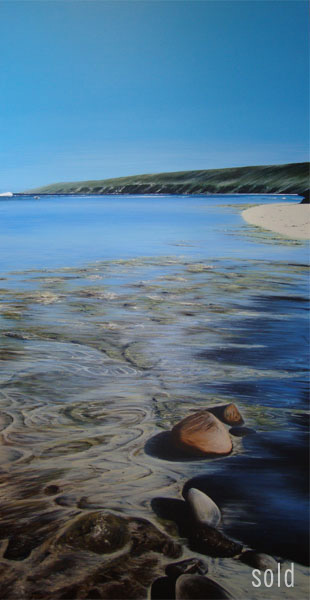 Heading out, Yallingup reef - 152cm x 76cm - Acrylic on canvas 2009