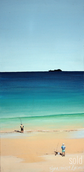 Early Fish - 20cm x 40cm - Acrylic on canvas 2006 - SOLD