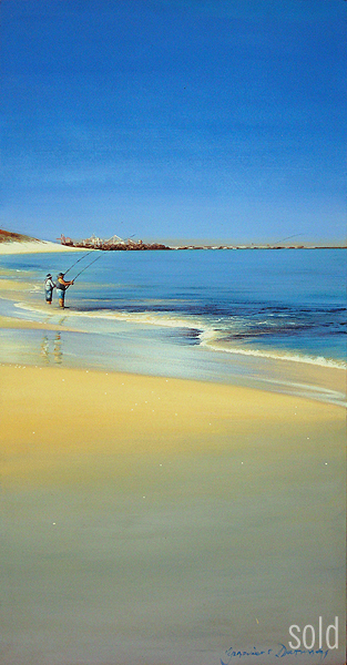 Fishing North Cott - 45 x 90cm - Acrylic on canvas 2008