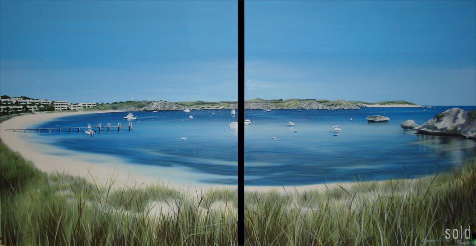 Glowing Geordie - 122 x 122cm x 2 - Acrylic on canvas 2008 - SOLD