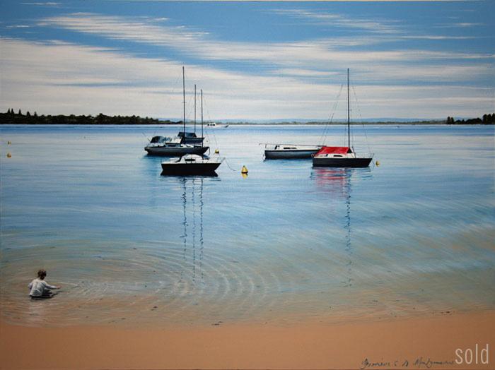 Mossie Park Magic - 91cm x 122cm - Acrylic on canvas 2009 - SOLD