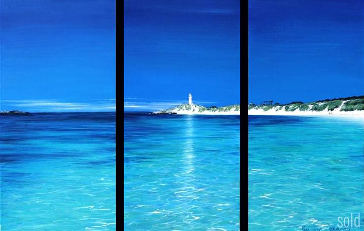 Pinkies Triptych - 30cm x 60cm x 3 - Acrylic on canvas 2007 - SOLD