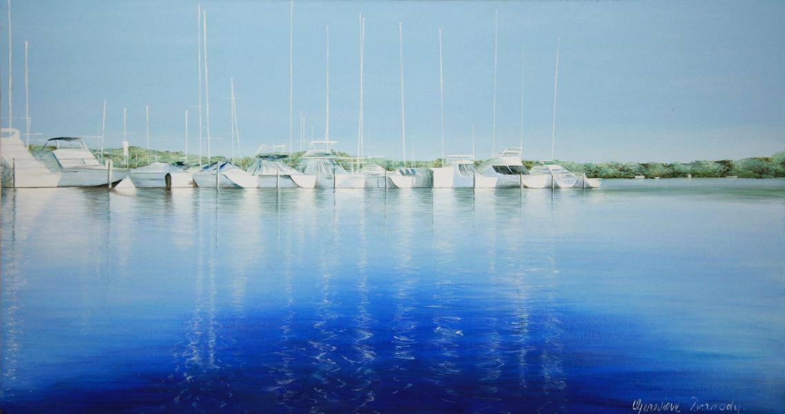 Rive Blue - 45cm x 86cm - Acrylic on canvas 2007
