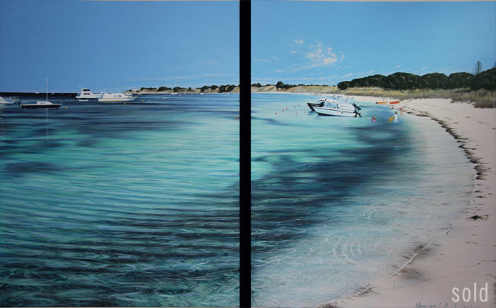 Thompson Bay Looking South - 122cm x 152cm x 2 - Acrylic on canvas 2008 - SOLD