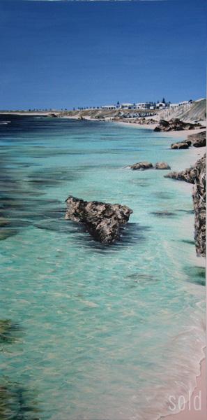 Trigg Shallows Study 152 x 76cm, Acrylic on canvas, 2009 - SOLD