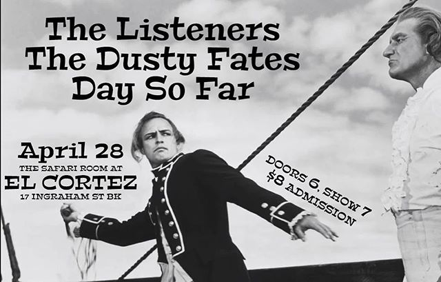 Early show this Sunday at El Cortez! Starts at 7. We play at 8:30. Sunday Funday!