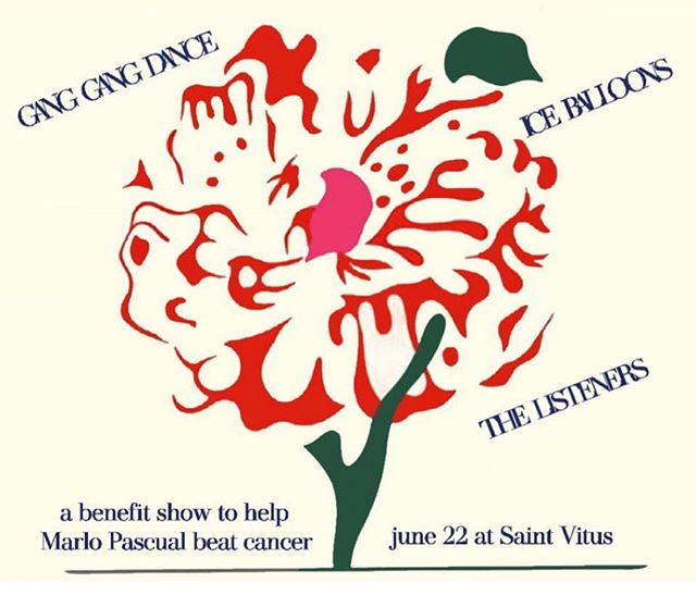 We are playing on an incredible bill with @ganggangdance and @iceballoons to raise money for our friend Marlo Pascual's fight against cancer. @saintvitusbar June 22.