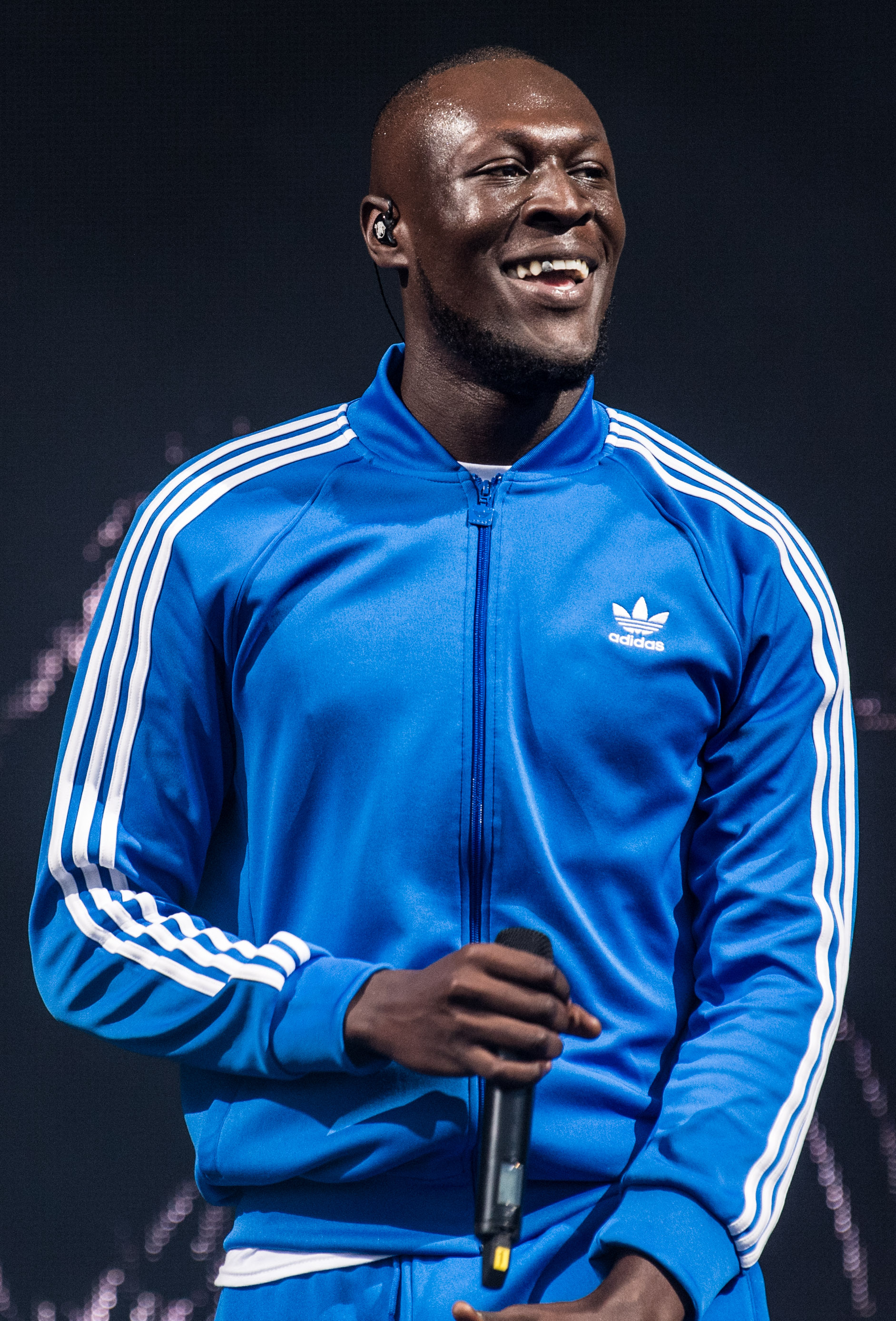Stormzy performing on the Other Stage